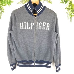 🌼Vintage Tommy Hilfiger zippered cardigan sweater